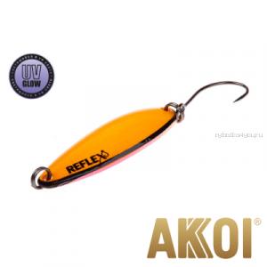 Колеблющаяся блесна Akkoi Reflex Legend 3,5 см / 3,1 гр / цвет: R17 UV