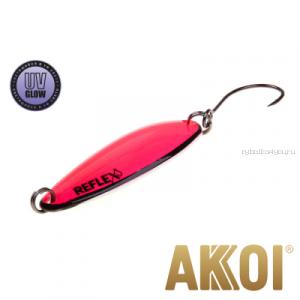 Колеблющаяся блесна Akkoi Reflex Legend 3,5 см / 3,1 гр / цвет: R18 UV