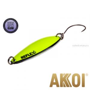 Колеблющаяся блесна Akkoi Reflex Legend 3,5 см / 3,1 гр / цвет: R19 UV
