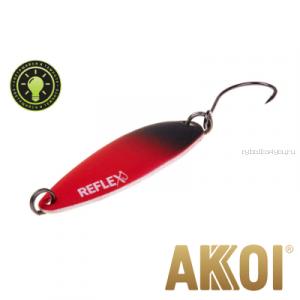 Колеблющаяся блесна Akkoi Reflex Legend 3,5 см / 3,1 гр / цвет: R21  светонакопитель