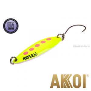 Колеблющаяся блесна Akkoi Reflex Legend 3,5 см / 3,1 гр / цвет: R23 UV