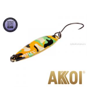 Колеблющаяся блесна Akkoi Reflex Legend 3,5 см / 3,1 гр / цвет: R24 UV