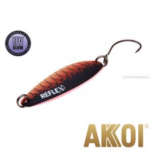Колеблющаяся блесна Akkoi Reflex Legend 3,5 см / 3,1 гр / цвет: R27 UV