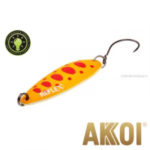 Колеблющаяся блесна Akkoi Reflex Legend 3,5 см / 3,1 гр / цвет: R29  светонакопитель