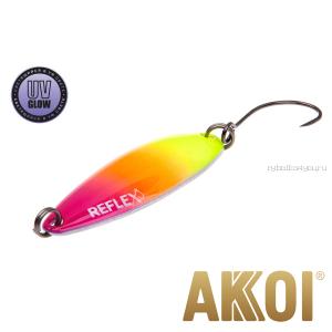 Колеблющаяся блесна Akkoi Reflex Legend 3,5 см / 3,1 гр / цвет: R36 UV