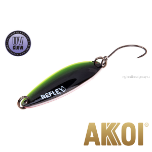 Колеблющаяся блесна Akkoi Reflex Legend 3,5 см / 3,1 гр / цвет: R38 UV