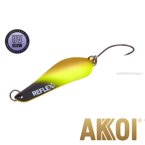 Колеблющаяся блесна Akkoi Reflex Crystal 4 см / 3,6 гр / цвет:  R02  UV