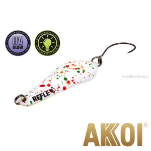 Колеблющаяся блесна Akkoi Reflex Crystal 4 см / 3,6 гр / цвет:  R04  UV и светонакопитель