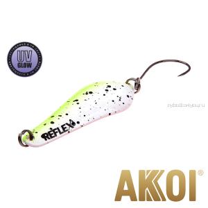 Колеблющаяся блесна Akkoi Reflex Crystal 4 см / 3,6 гр / цвет:  R05  UV