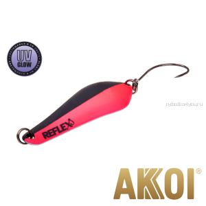 Колеблющаяся блесна Akkoi Reflex Crystal 4 см / 3,6 гр / цвет:  R08  UV