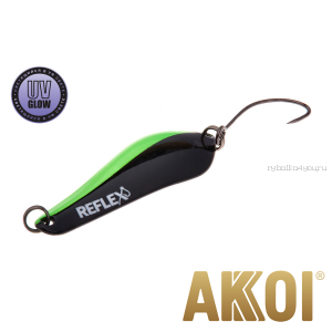 Колеблющаяся блесна Akkoi Reflex Crystal 4 см / 3,6 гр / цвет:  R14  UV