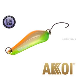 Колеблющаяся блесна Akkoi Reflex Crystal 4 см / 3,6 гр / цвет:  R16  UV