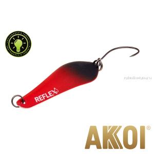 Колеблющаяся блесна Akkoi Reflex Crystal 4 см / 3,6 гр / цвет:  R21   светонакопитель