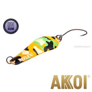 Колеблющаяся блесна Akkoi Reflex Crystal 4 см / 3,6 гр / цвет:  R24  UV