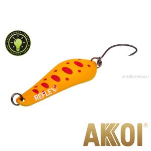 Колеблющаяся блесна Akkoi Reflex Crystal 4 см / 3,6 гр / цвет:  R29   светонакопитель
