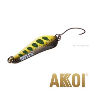 Колеблющаяся блесна Akkoi Reflex Crystal 4 см / 3,6 гр / цвет:  R30