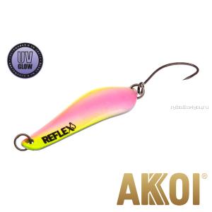 Колеблющаяся блесна Akkoi Reflex Crystal 4 см / 3,6 гр / цвет:  R34  UV