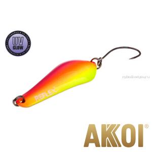 Колеблющаяся блесна Akkoi Reflex Crystal 4 см / 3,6 гр / цвет:  R35  UV
