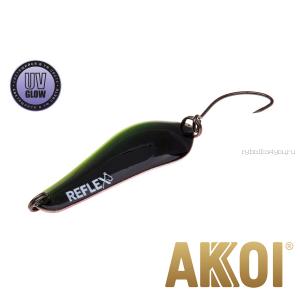 Колеблющаяся блесна Akkoi Reflex Crystal 4 см / 3,6 гр / цвет:  R38  UV