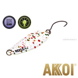 Колеблющаяся блесна Akkoi Reflex Element 4,2 см / 4,8 гр / цвет:  R04 UV и светонакопитель