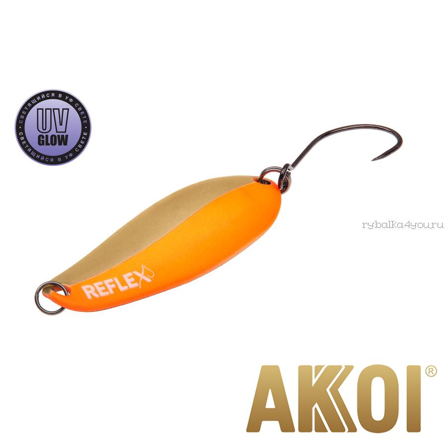 Колеблющаяся блесна Akkoi Reflex Element 4,2 см / 4,8 гр / цвет:  R13 UV