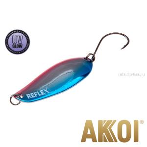 Колеблющаяся блесна Akkoi Reflex Element 4,2 см / 4,8 гр / цвет:  R15 UV