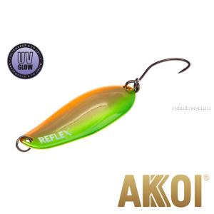 Колеблющаяся блесна Akkoi Reflex Element 4,2 см / 4,8 гр / цвет:  R16 UV
