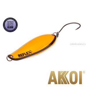 Колеблющаяся блесна Akkoi Reflex Element 4,2 см / 4,8 гр / цвет:  R17 UV