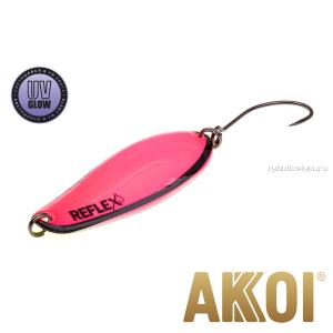 Колеблющаяся блесна Akkoi Reflex Element 4,2 см / 4,8 гр / цвет:  R18 UV