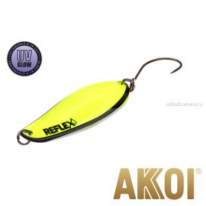 Колеблющаяся блесна Akkoi Reflex Element 4,2 см / 4,8 гр / цвет:  R19 UV