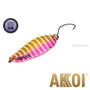 Колеблющаяся блесна Akkoi Reflex Element 4,2 см / 4,8 гр / цвет:  R20 UV