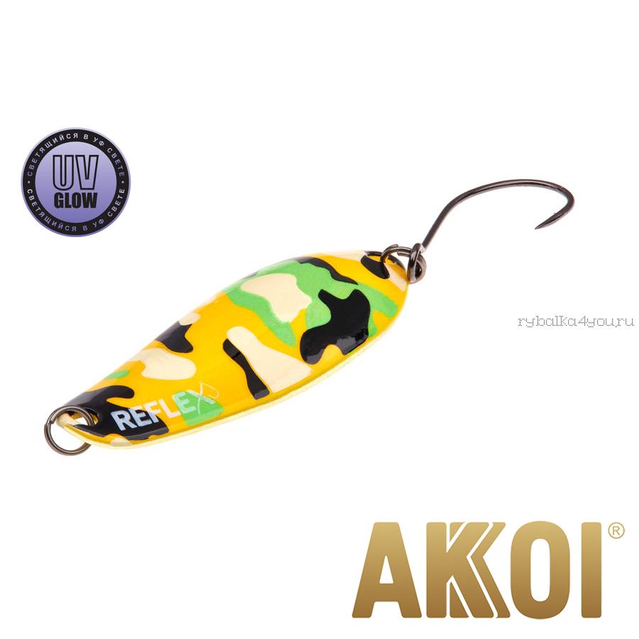 Колеблющаяся блесна Akkoi Reflex Element 4,2 см / 4,8 гр / цвет:  R24 UV