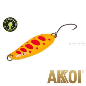 Колеблющаяся блесна Akkoi Reflex Element 4,2 см / 4,8 гр / цвет:  R29  светонакопитель