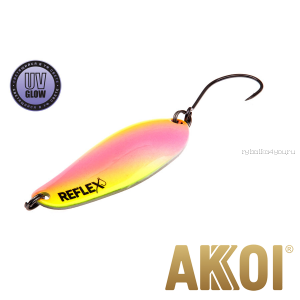 Колеблющаяся блесна Akkoi Reflex Element 4,2 см / 4,8 гр / цвет:  R34 UV