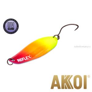 Колеблющаяся блесна Akkoi Reflex Element 4,2 см / 4,8 гр / цвет:  R35 UV
