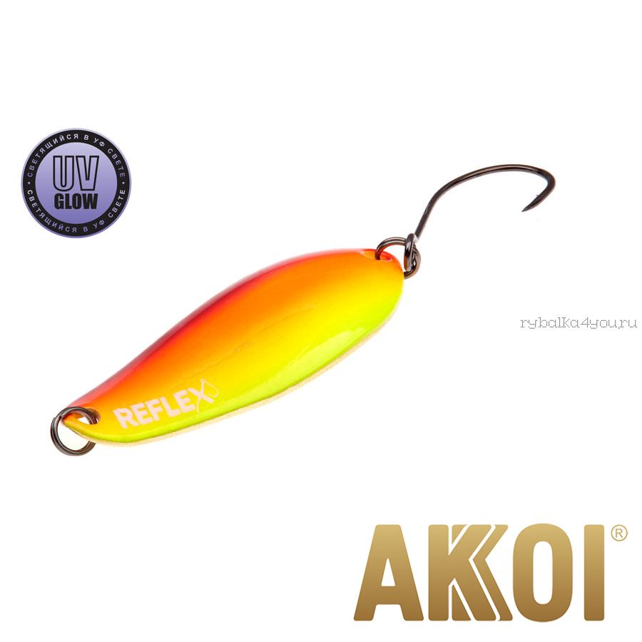 Колеблющаяся блесна Akkoi Reflex Element 4,2 см / 4,8 гр / цвет:  R36 UV