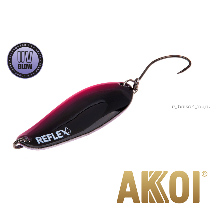 Колеблющаяся блесна Akkoi Reflex Element 4,2 см / 4,8 гр / цвет:  R38 UV