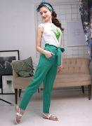 зеленые женские брюки