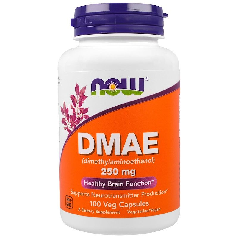 Now Foods, DMAE (ДМАЕ) 100 капс.