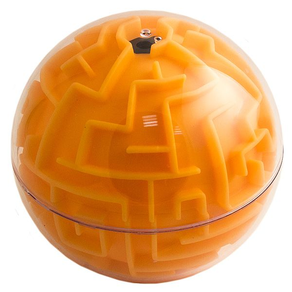 Головоломка лабиринт Сфера оранжевая