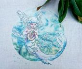 "Cross stitch pattern ""Ocean child""."