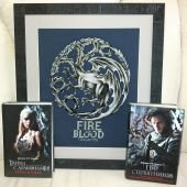 """Cross stitch pattern """"Fire and Blood""""."""