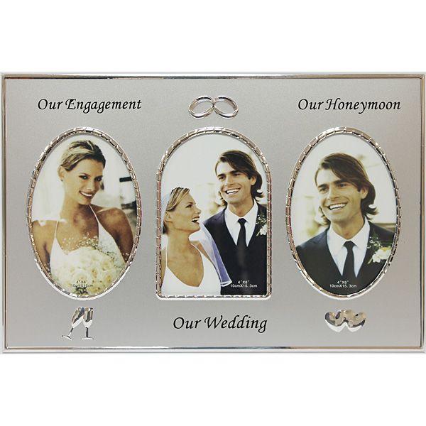 Фоторамка Наша Свадьба 24х36 серая