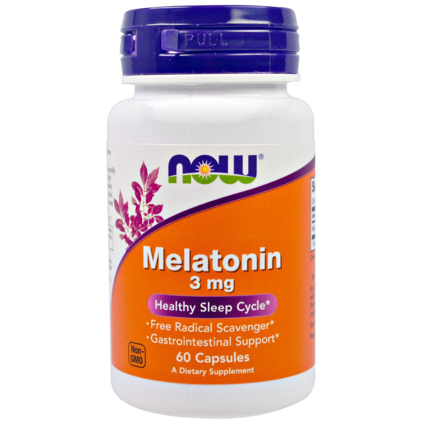 Now Foods, Melatonin (Мелатонин) 60 капс.