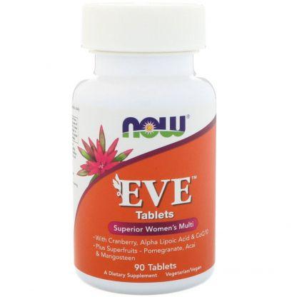 Now Foods, Женские мультивитамины Eve (Ева), 90 табл.