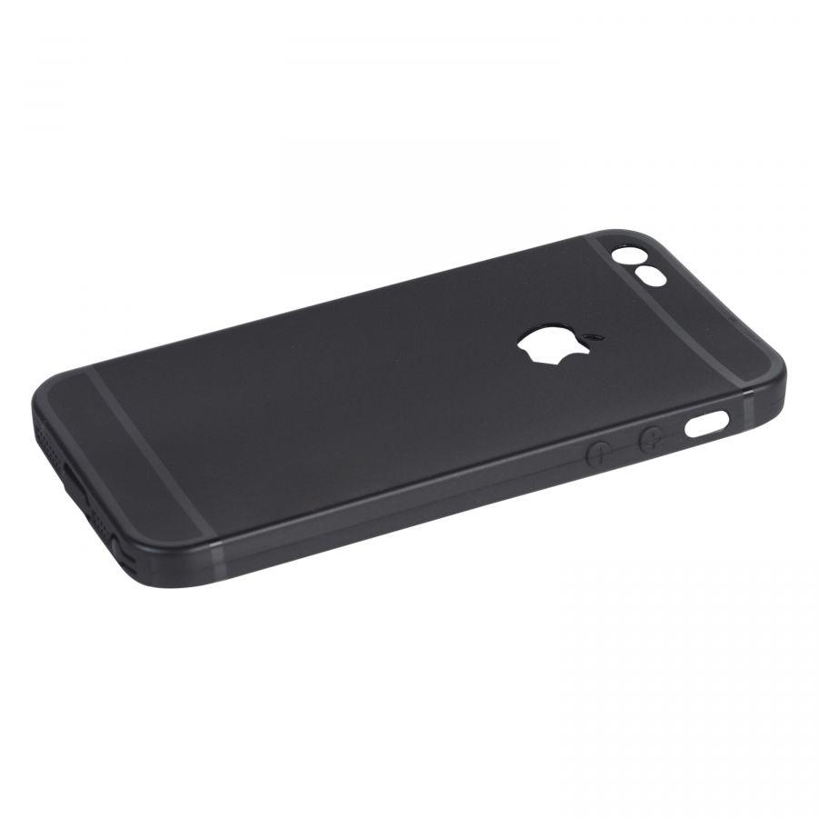 Чехол iPhone 5|5s силиконовый с окном (черный)