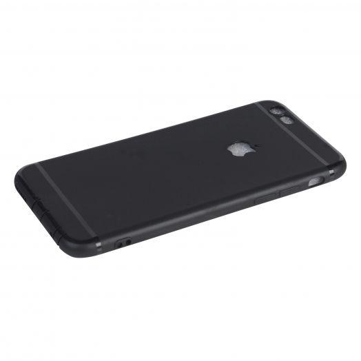 Чехол iPhone 6|6s силиконовые с окном (черный)