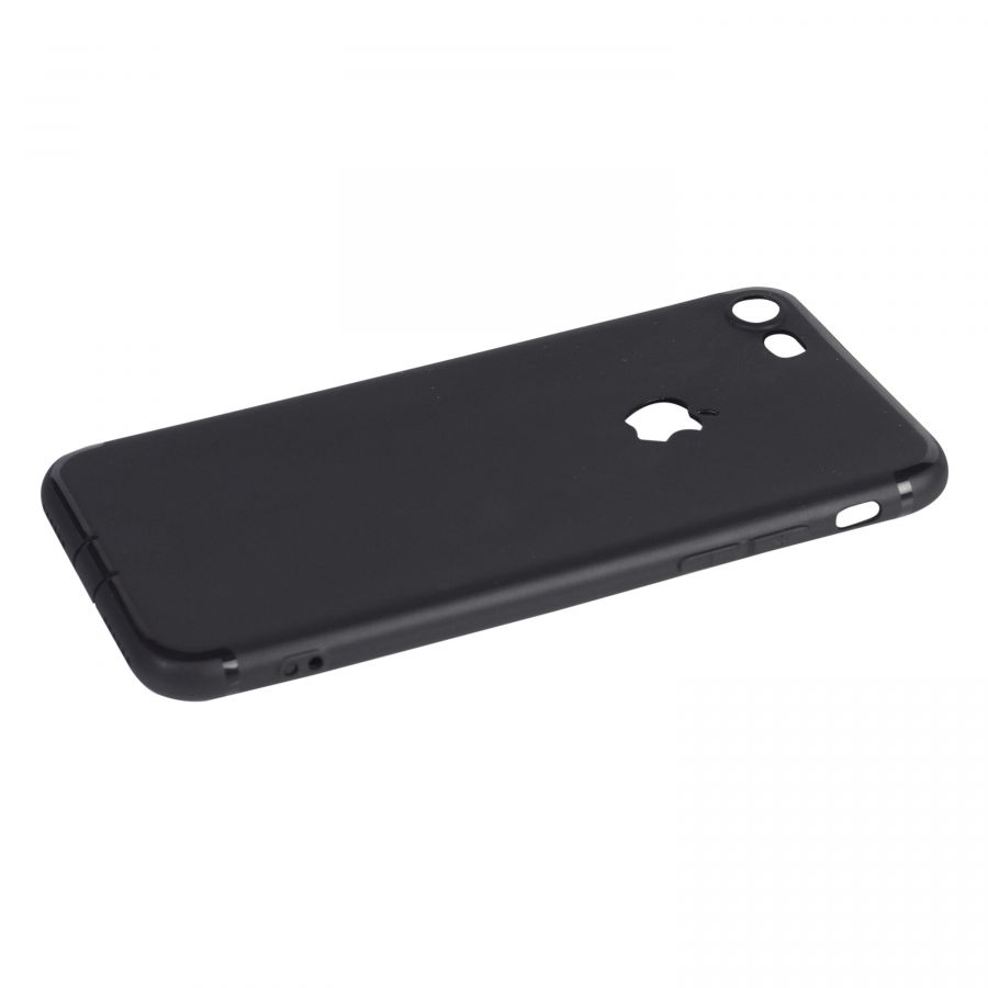 Чехол iPhone 7 7s силиконовый с окном (черный)