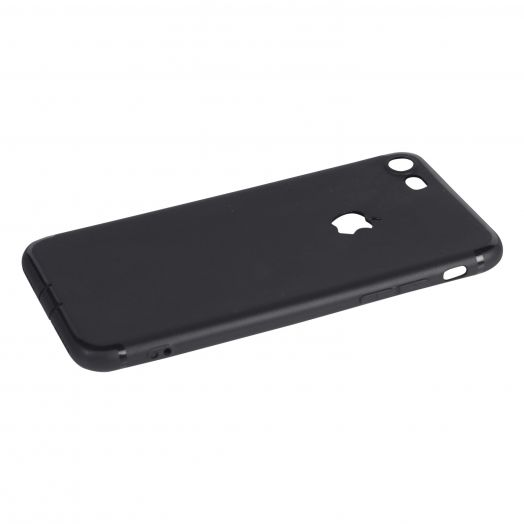 Чехол iPhone 7|7s силиконовый с окном (черный)