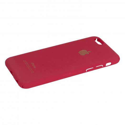 Чехол iPhone 6|6s пластик soft (красный)